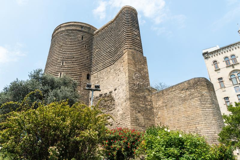 Maiden Tower in Baku, Azerbaijan royalty free stock image