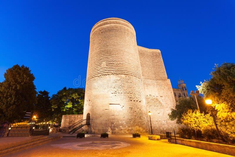 Maiden Tower in Baku stock image