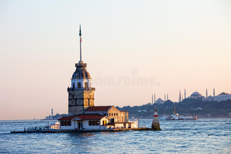 Maiden Tower in Istanbul royalty free stock photo