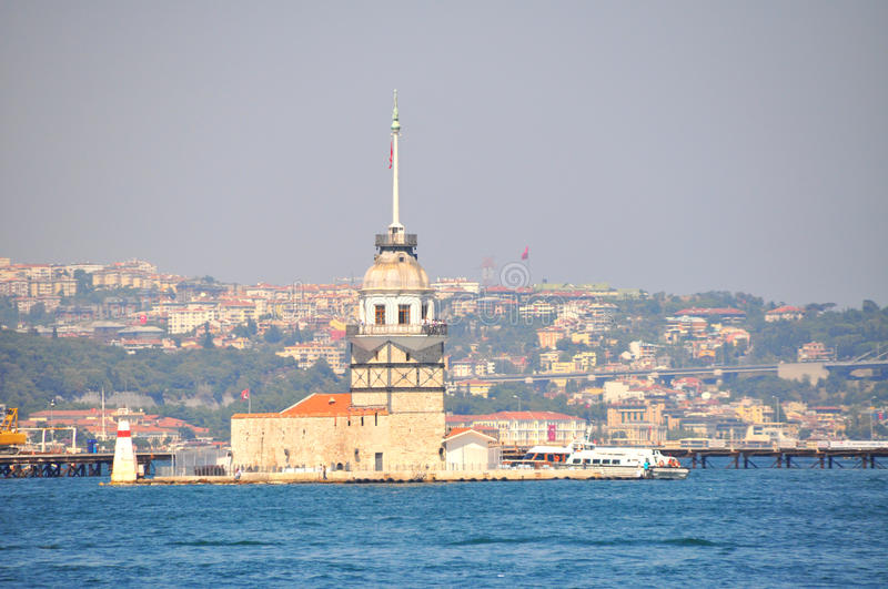 Download Maiden Tower in Istanbul stock photo. Image of calm, famous - 21314206