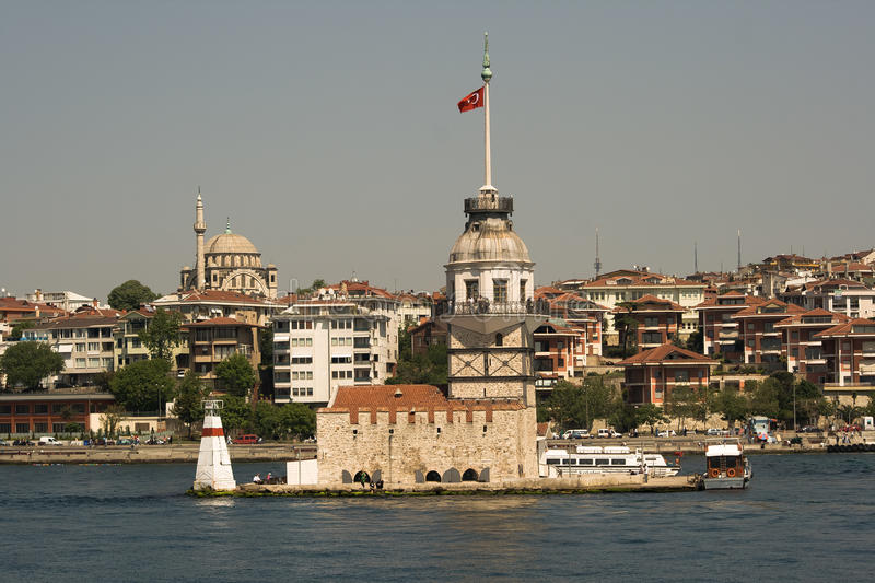 Maiden tower in Istanbul. Maiden tower which is an important historical building in Istanbul royalty free stock photography