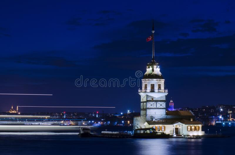 Maiden Tower, Istanbul royalty free stock image