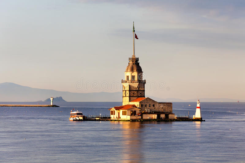 Maiden Tower in Istanbul, Turkey royalty free stock photos