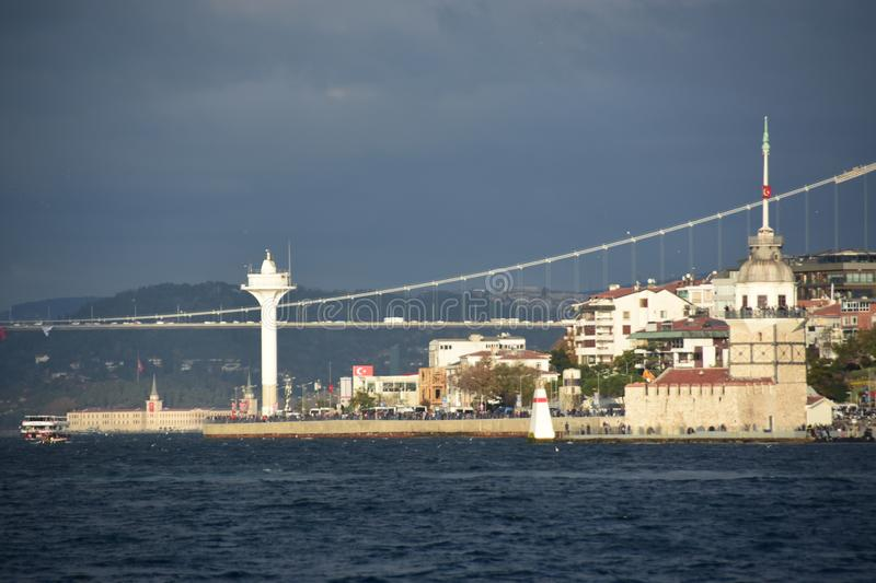 Maiden Tower in Istanbul Turkey royalty free stock photos