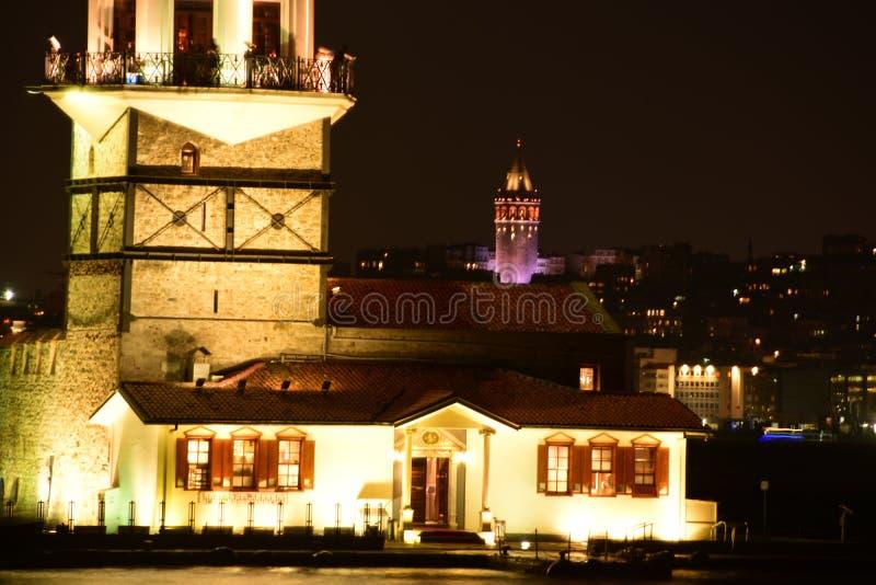 Maiden Tower, Istanbul, Turkey stock photography