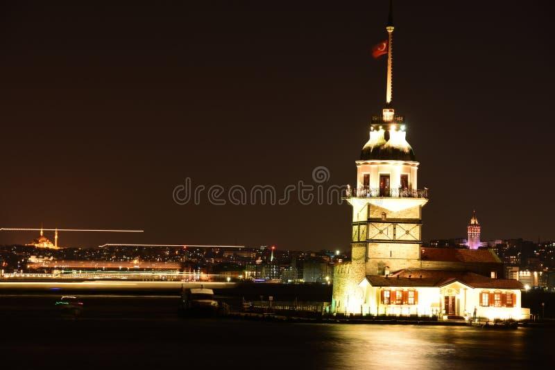 Maiden Tower, Istanbul, Turkey stock photos