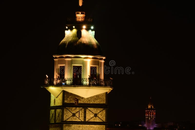 Maiden Tower, Istanbul, Turkey royalty free stock photography