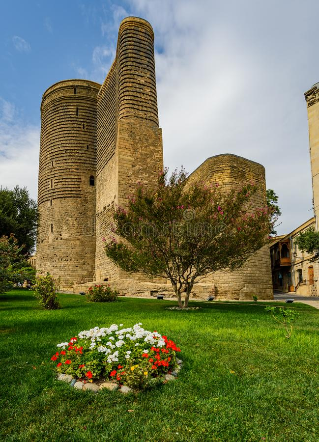 Maiden Tower Baku royalty free stock images
