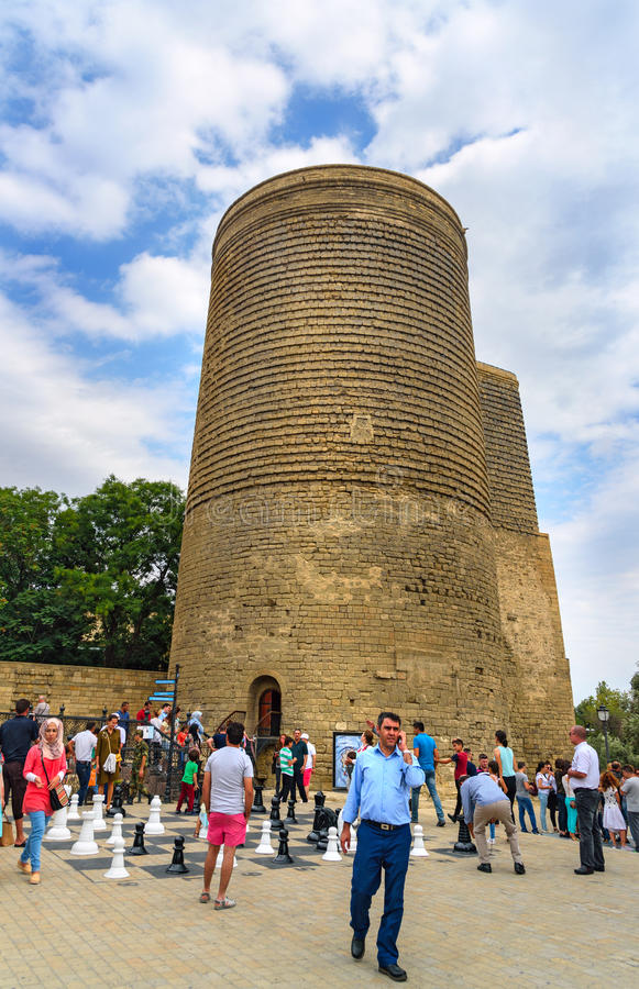 Maiden Tower in Old city, Icheri Sheher. Baku stock photos