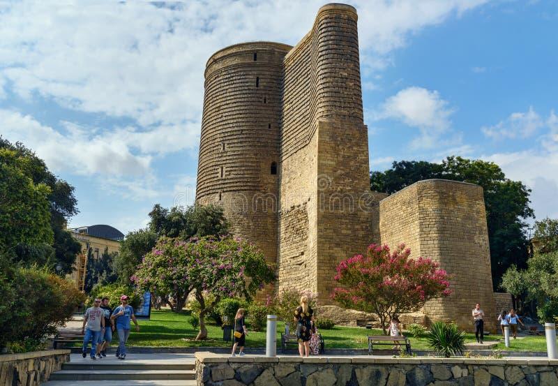 Maiden Tower in Old city, Icheri Sheher. Baku stock images