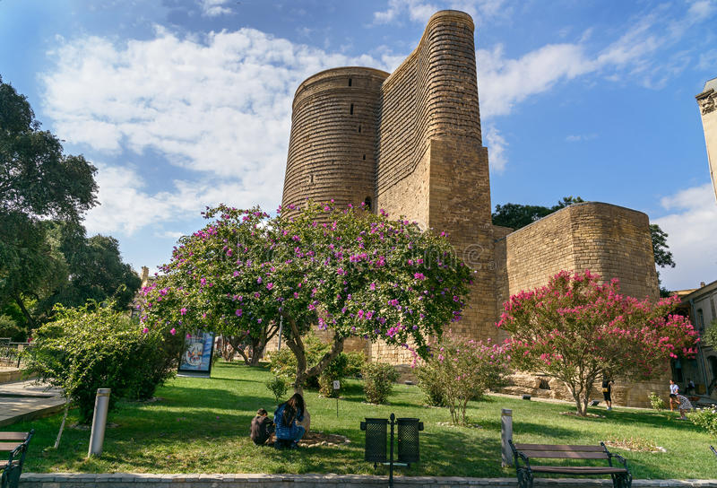 Maiden Tower in Old city, Icheri Sheher. Baku royalty free stock images