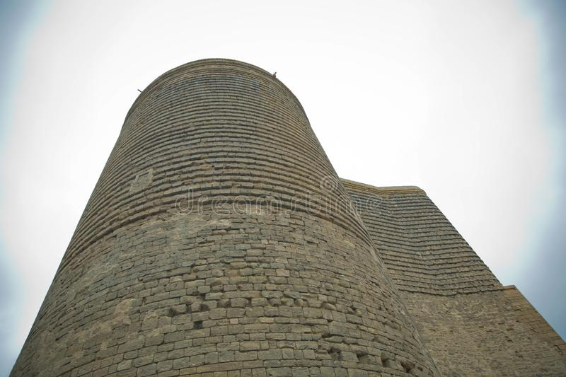 Maiden Tower was built in the 12th century as part of the walled city. Maiden Tower Baku. The Maiden Tower also known as Giz stock photo