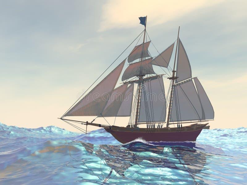 Download Maiden Voyage stock illustration. Image of sailboat, journey - 11016166
