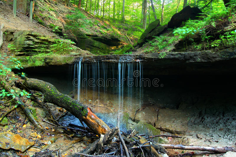 Maidenhair Falls Shades State Park Indiana stock photography
