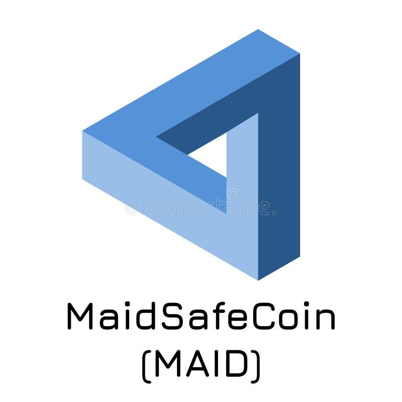 MaidSafeCoin-MÄDCHEN Vektorillustration Schlüsselc lizenzfreie abbildung