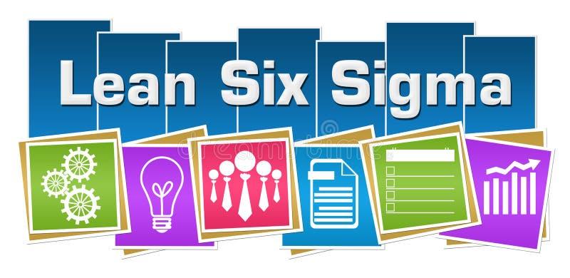 Maigre six rayures colorées de places de symboles d'affaires de sigma illustration libre de droits