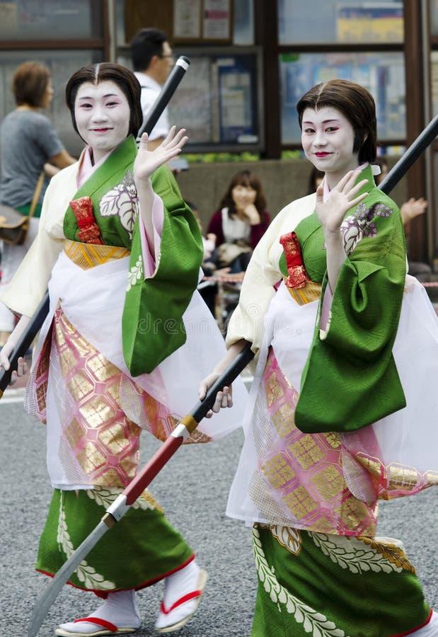 Maiko bij het Festival van Nagoya, Japan stock afbeelding