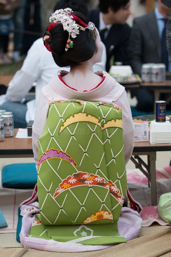 Maiko gejsza w Gion Kyoto, Japan obrazy stock