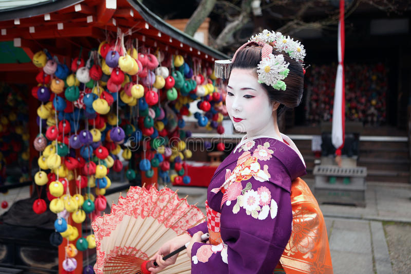 Maiko San w Kyoto zdjęcie stock