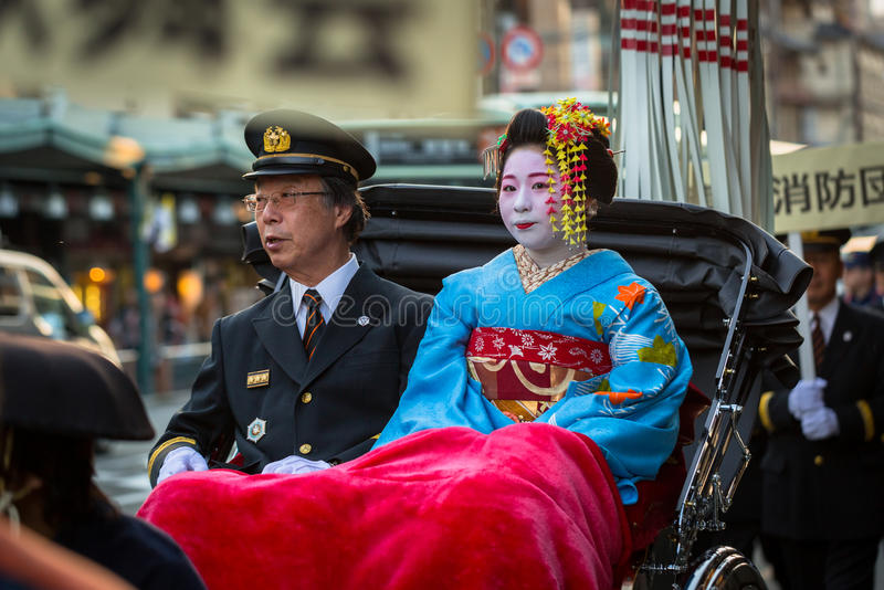 Download Maiko Women, Apprentice Geisha On The Street Parade In Kyoto Editorial Photography - Image: 93602547