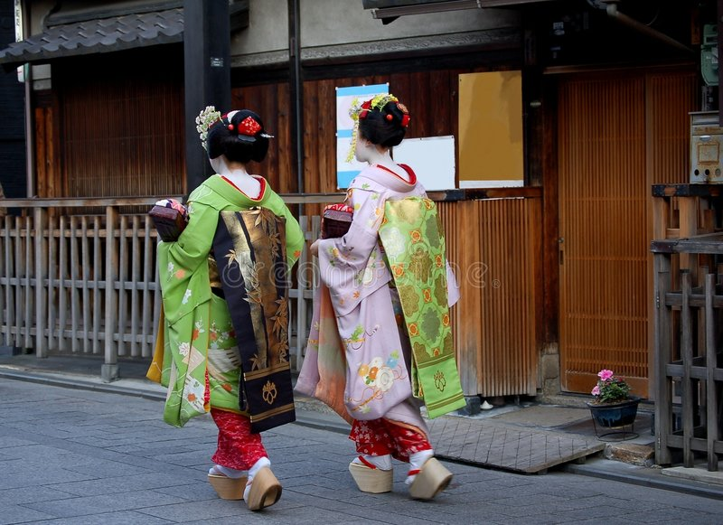 Maiko In Kyoto Japan Stock Photography