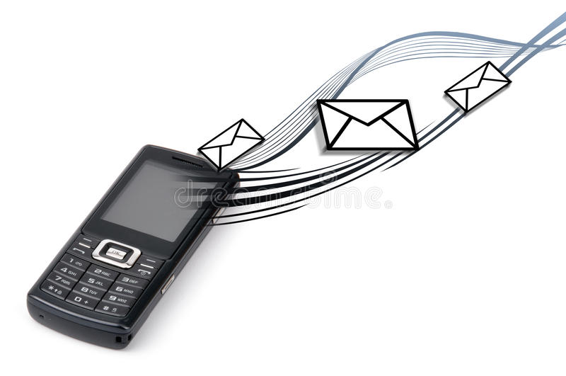 Mail. Sending mobile phone via stock photography
