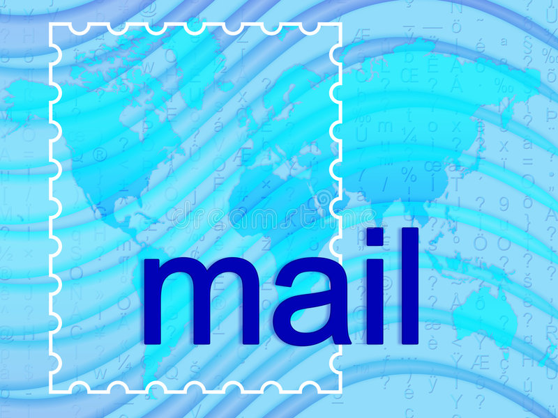 Mail royalty free illustration