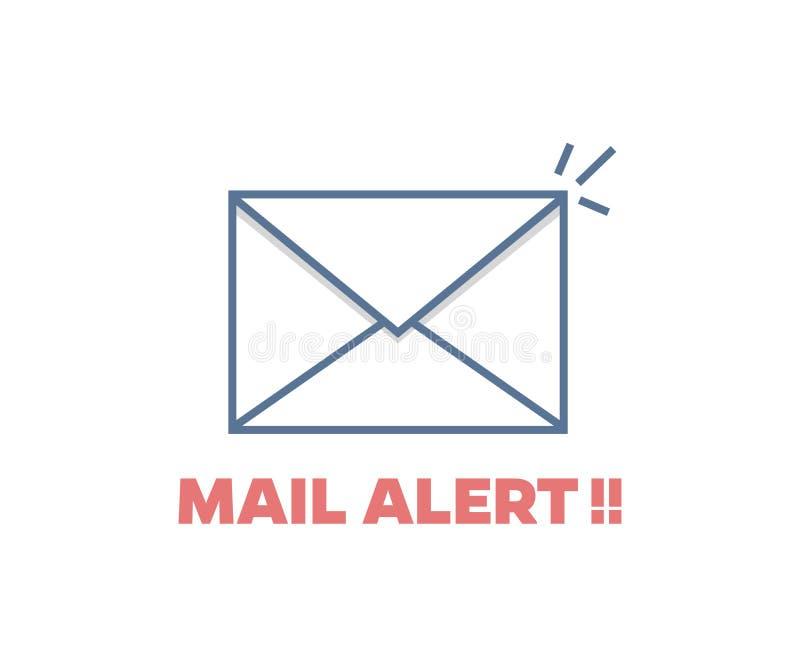 Mail alert icon. Vector envelope blinking illustration. Trendy design stock illustration