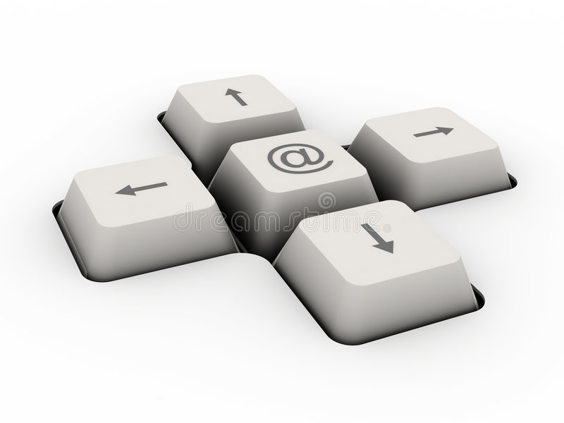 Mail alias keyboard button royalty free illustration