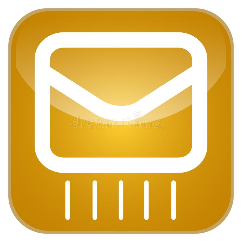 Mail app icon. For smartphones, Vector illustration vector illustration
