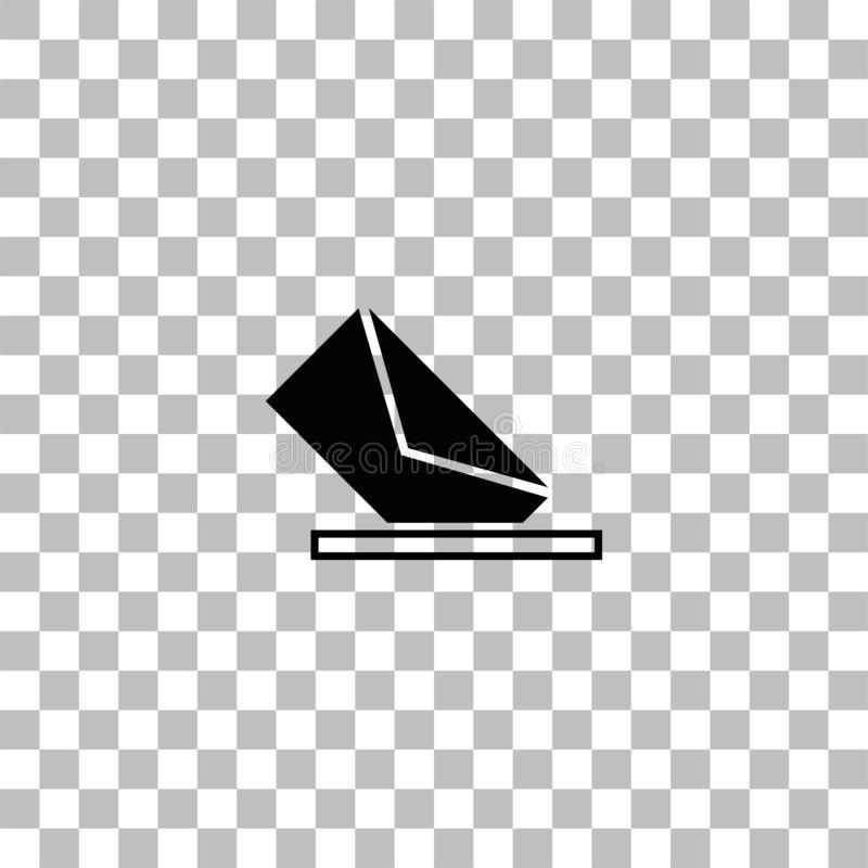 Mail box icon flat. Mail box. Black flat icon on a transparent background. Pictogram for your project vector illustration