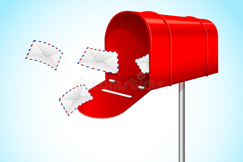 Mail Box with Envelope vector illustration