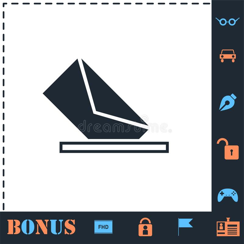 Mail box icon flat. Mail box. Perfect icon with bonus simple icons vector illustration