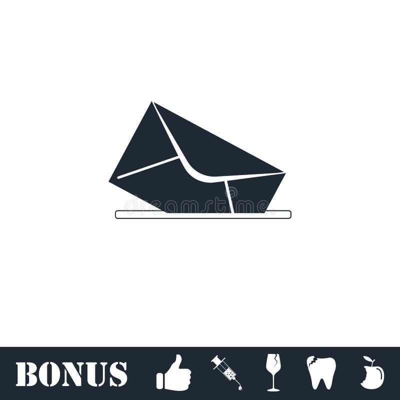 Mail box icon flat. Vector illustration symbol and bonus pictogram stock illustration
