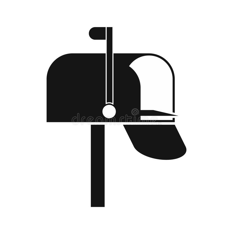 Mail box icon, simple style. Mail box icon in simple style on a white background royalty free illustration