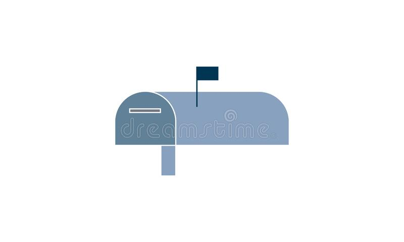 Box, letter, mail, mailbox, post icon. Mail box icon  vector illustration. Flat style graphical symbol. can be used for web and mobile apps royalty free illustration