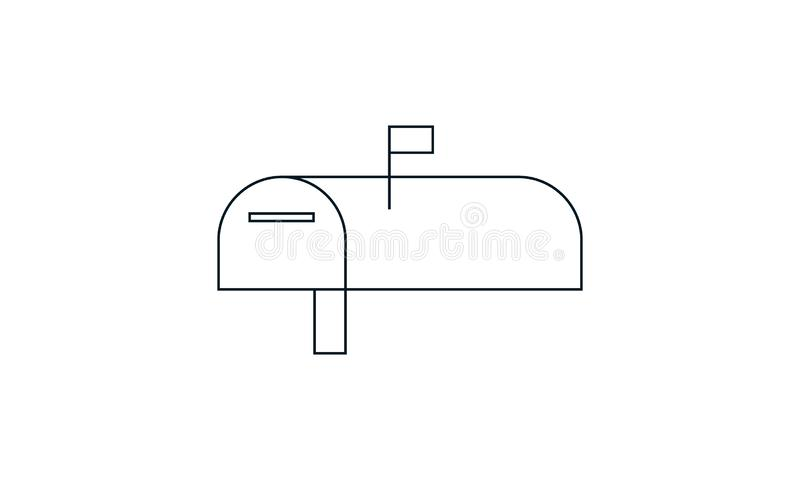 Box, letter, mail, mailbox, post icon. Mail box  icon  vector illustration. Flat style graphical symbol. can be used for web and mobile apps stock illustration