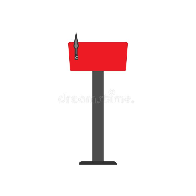 Mail box red symbol communication shipping post vector icon. Deliver cargo receive postal element letterbox.  vector illustration