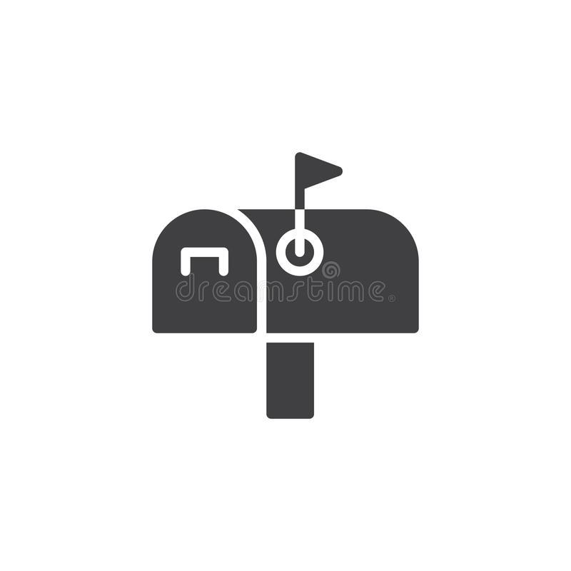 Mail box vector icon. Filled flat sign for mobile concept and web design. Mailbox simple solid icon. Symbol, logo illustration. Pixel perfect vector graphics stock illustration
