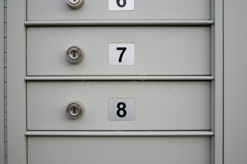 Download Mail boxes stock image. Image of lock, copy, secure, postage - 176973