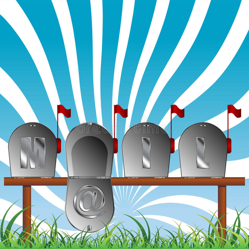 Download Mail boxes stock vector. Illustration of flag, outdoor - 21022604