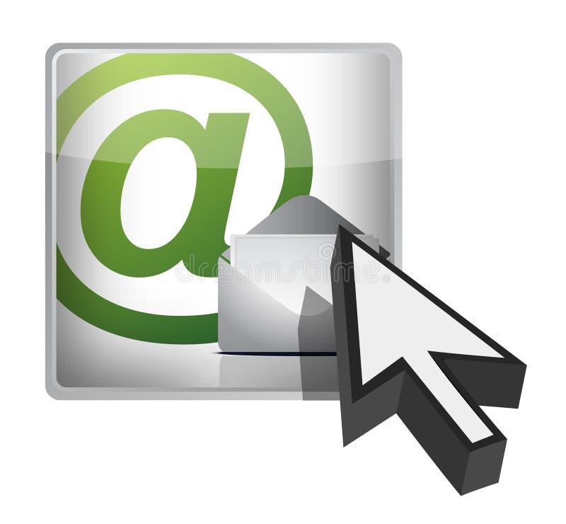 Mail button and cursor illustration design