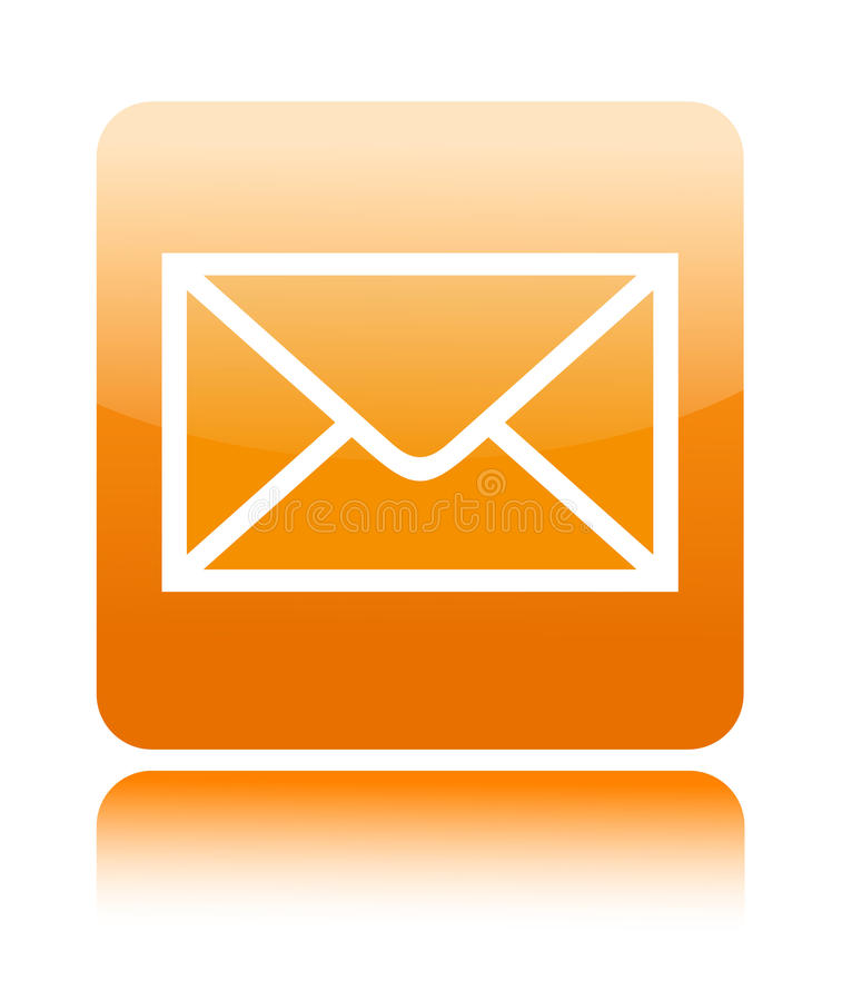 Mail button icon stock illustration