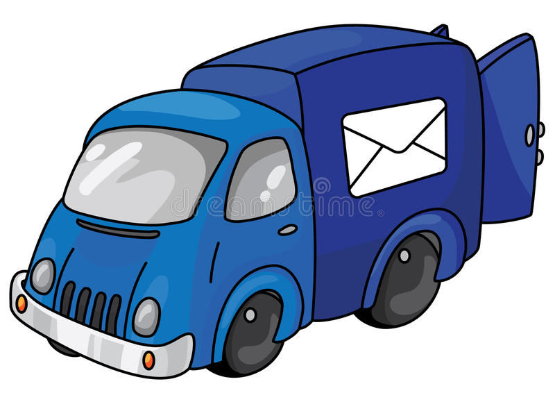Download Mail car stock vector. Image of truck, office, parcel - 14663880