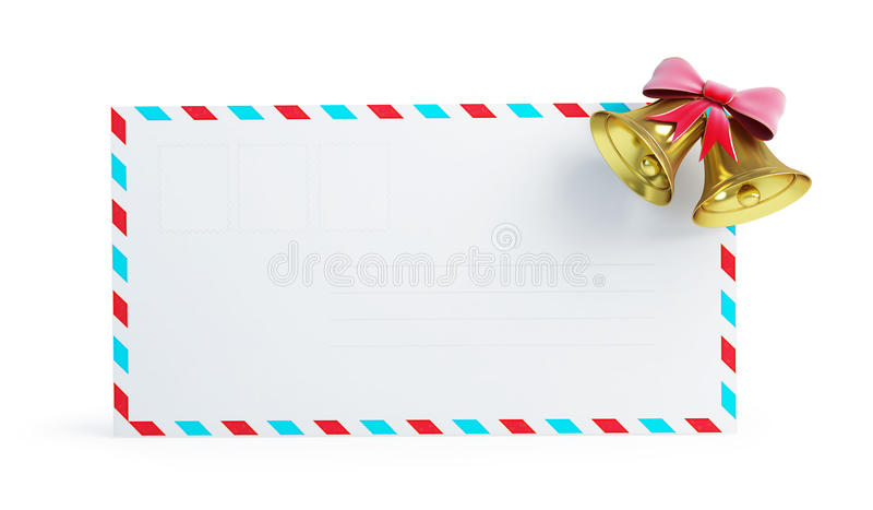 Mail Christmas Bell Stock Images