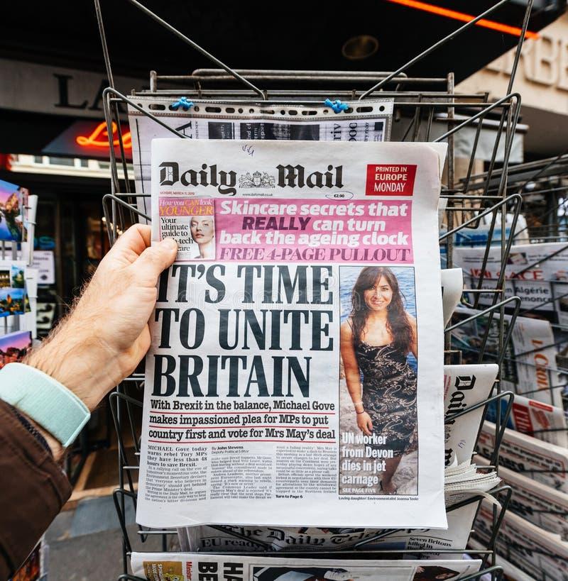 Daily Mail circa Brexit fotografia stock libera da diritti
