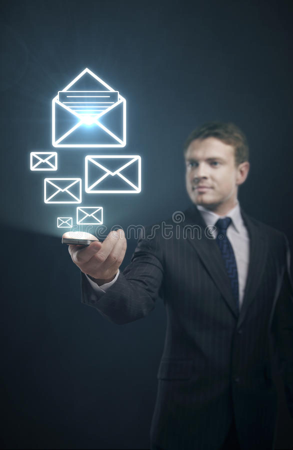 Mail content stock image