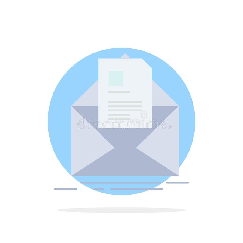 mail, contract, letter, email, briefing Flat Color Icon Vector vector illustration