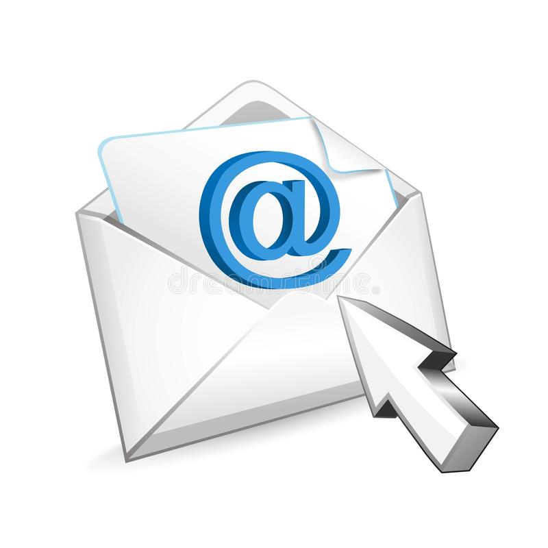 Download Mail with cursor stock illustration. Illustration of cursor - 32374916