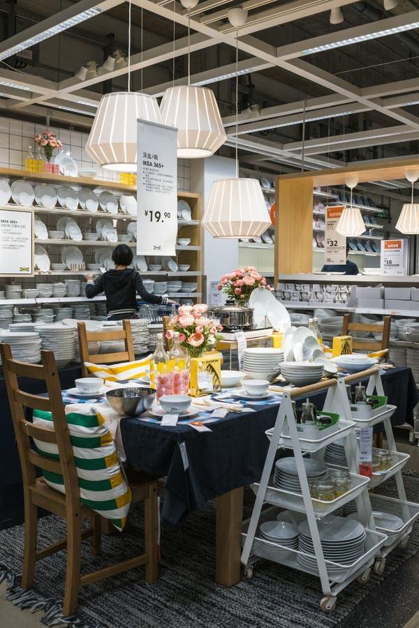 Mail de Shenzhen IKEA, provenant d'une cha?ne nordique d'entrep?t, il vend les meubles assembl?s et fournit ?galement des article image stock